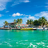 Beautiful  caribbean sight with turquoise water in Caye Caulker island, Belize.