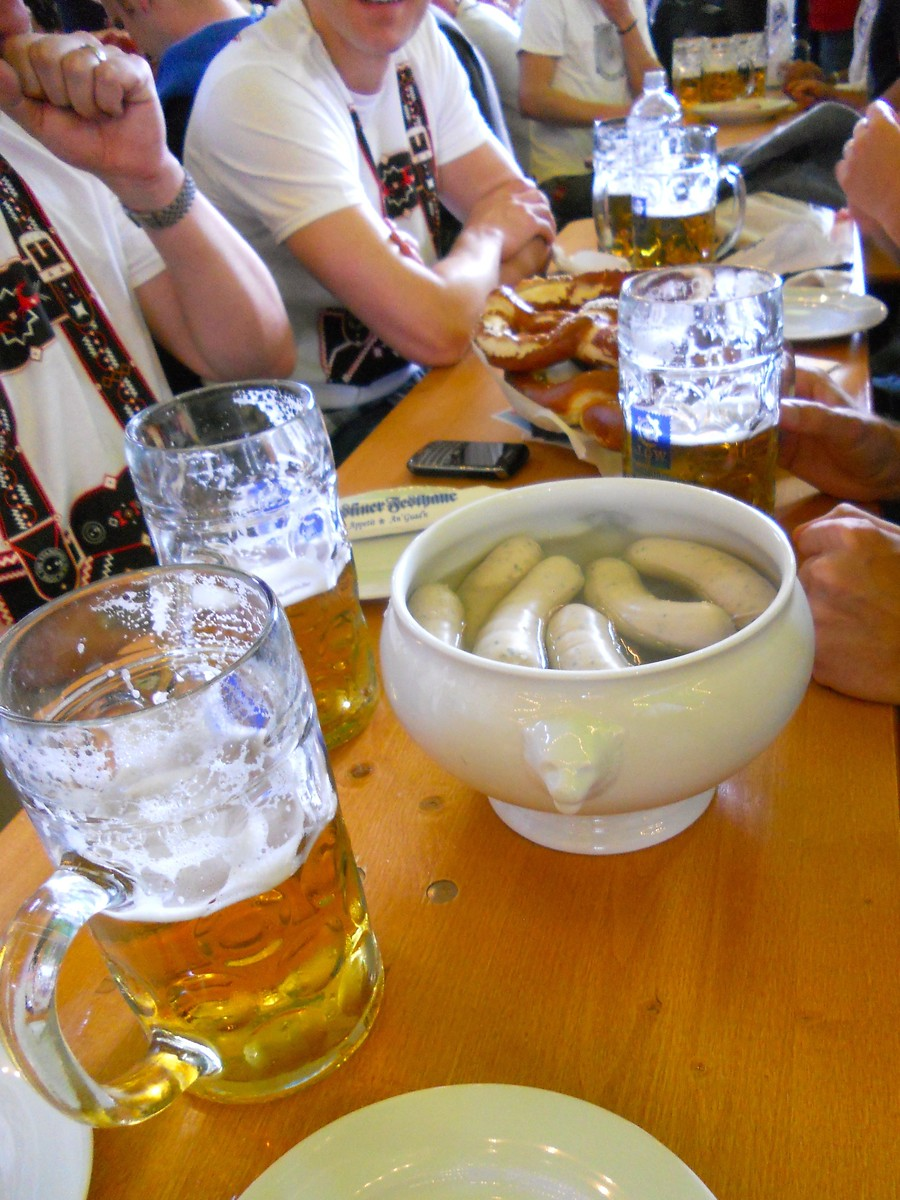 Weisswurst is just one Oktoberfest food you should try, discover the other 22 dishes.
