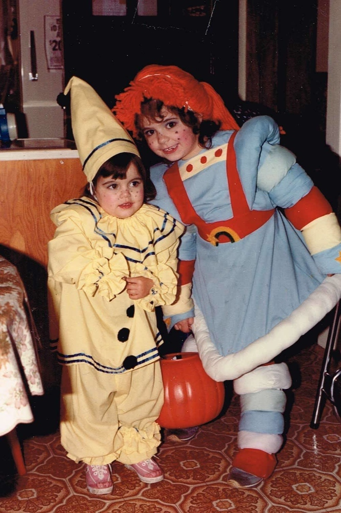 Ayngelina and Ryan as Rainbow Bright and a Clown for Halloween
