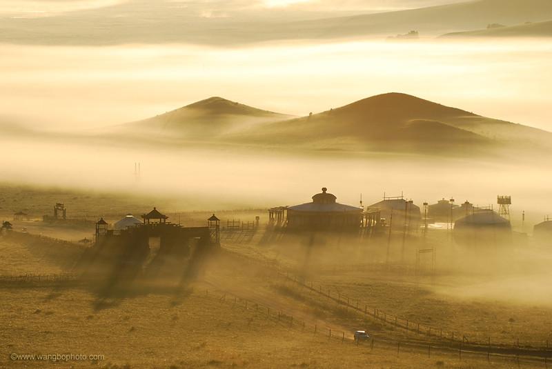 坝上●晨雾 - 一镜收江南 - 清韵