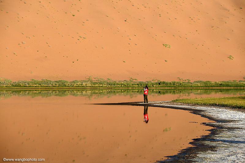 上帝划下的曲线 - 巴丹吉林沙漠(丹霞沙漠胡杨林之旅 五) - 一镜收江南 - 清韵