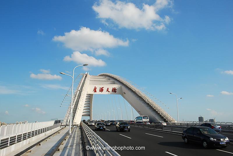 登卢浦大桥观上海 - 一镜收江南 - 清韵