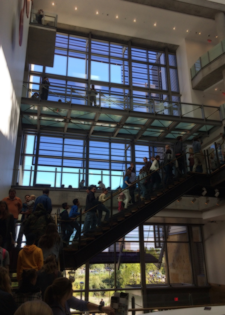 Austin Public Library opening day