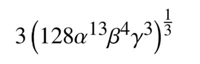 alpha, beta, gamma in a math expression