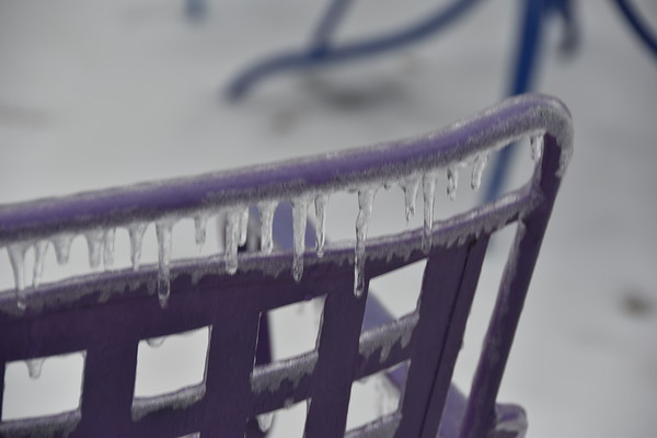 icles on a purple chair