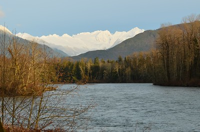 Skagit River with North Cascade Mountains