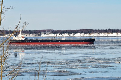A freighter in Cook Inlet