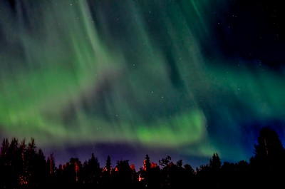 Northern Lights - My first attempt to photograph them.