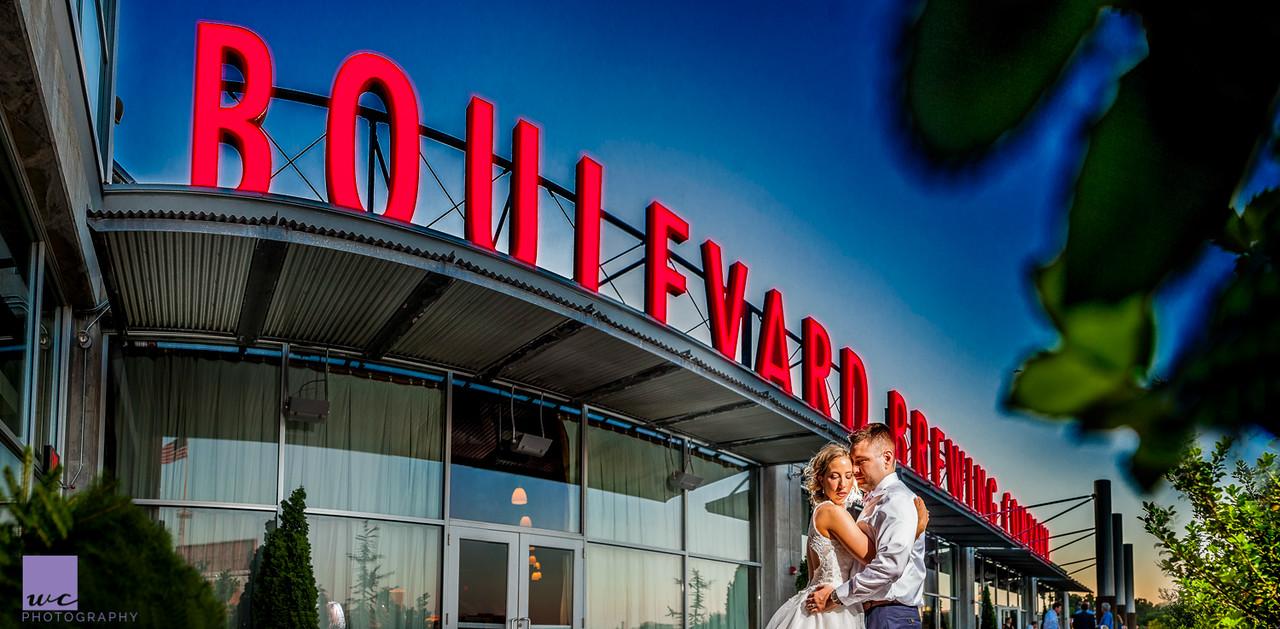 boulevard Brewing Company Wedding. Kate & David.