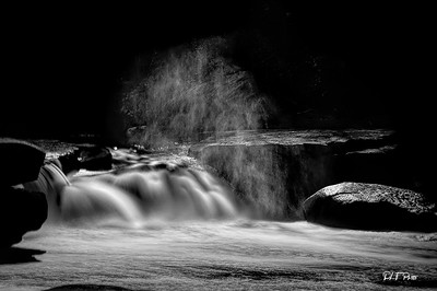 Waterfall with spray
