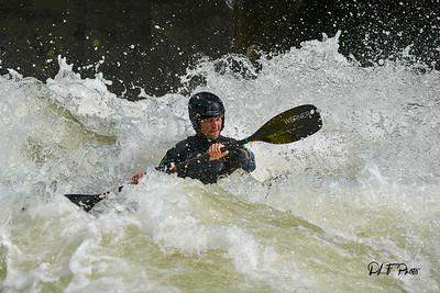 Kayaking on the Gauley River at Pillow Rock rapids