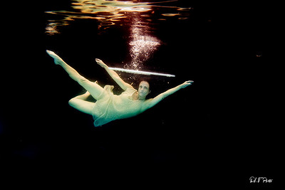 Artist magically floating with her flute 59