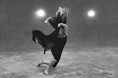 Nina practicing movement hair floating