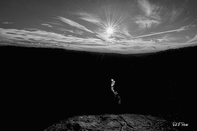 Blackwater River a light streak between the mountains