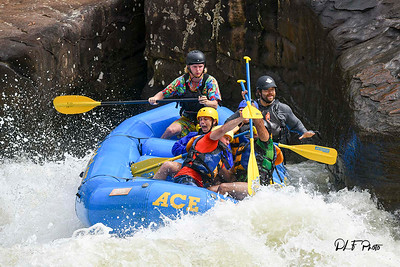 Rafting on the Gauley River at Pillow Rock rapids