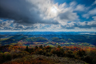 Scenic from top of Bald Knob Mountain