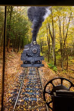 Steam train at Cass WV