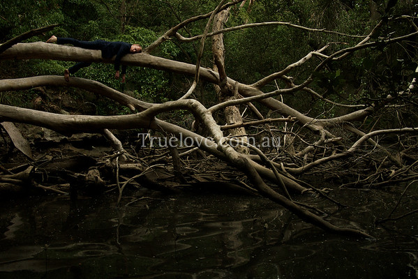 9.3.2013  My submission to the Moran 2013 Photographic Prize.  Actor Grant Cartwright on the Lane Cove River  'Exhaustion' © Tess Peni 2013  I didn't make the semi-finals but I'm glad I contributed.   http://www.moranprizes.com.au/competition/2013-photographic-prize-open/semi-finalists