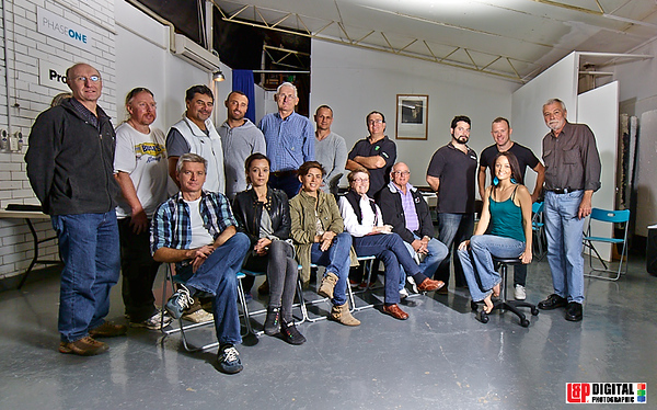 4.5.2013  Spot the rookie. Learning studio lighting, in particular Profoto gear which I now love! Photographer Gary Ede (far right) spent the day imparting his wisdoms to a variety of Sydney photographers (me in the green jacket) along with the awesome staff of L&P Digital Photographic in their studio.  Photo courtesy Brent Pottinger/L&P  http://www.garyede.com.au  http://www.lapfoto.com.au