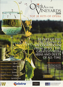 WIND BACK THE CLOCK 2002  OPERA IN THE VINEYARDS  A wine glass that was a wedding gift, Wyndham Estate in the Hunter Valley, my husband assisting me, sunshine, love, music, wine...and Photoshop notes just to add to the mix. This image still endures in the Good Weekend and their promotions of the event, including this year. © Tess Peni