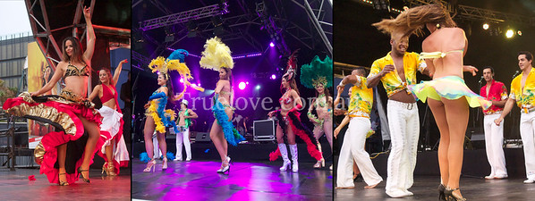 06.10.12 FIESTA FESTIVAL  Brazilian Fantasy Show performs at the Darling Harbour in it's 21st year. © Tess Peni