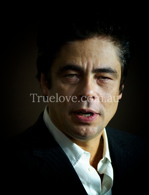 10.10.2012<br /> <br /> Puerto Rican, Academy Award winning actor Benicio del Toro in Sydney to promote his latest film 'Savages', directed by Oliver Stone.<br /> <br /> © Tess Peni