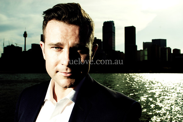 30.10.2012  David Campbell, Australian singer. A publicity shoot for his upcoming concert with Sydney Swings, on Sydney harbour, what better place to be?  © Tess Peni