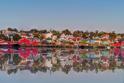 Lundenburg harbor in Nova Scotia reflection