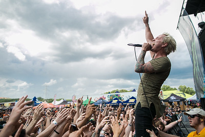 The Word Alive in Charlotte, NC on Vans Warped Tour 2016