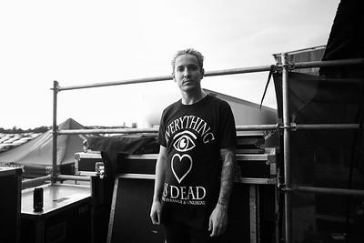 Telle Smith Backstage in Chicago, IL on Vans Warped Tour 2016