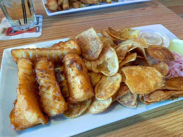 Fish and Chips at Bricks