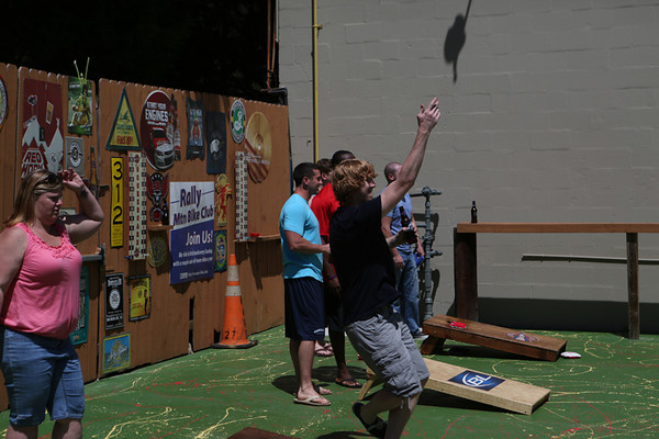 Blondes vs. Brunettes Corn Hole Tournament - 2014