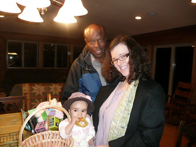 Esther with her Baba and Mommy!