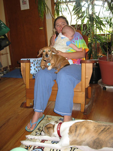 Albert with his Mommy and Henna and Flash