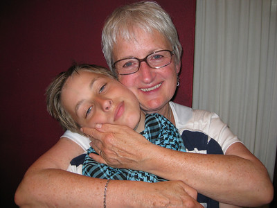 Lots of hugs for our very tired Johan on Tuesday evening