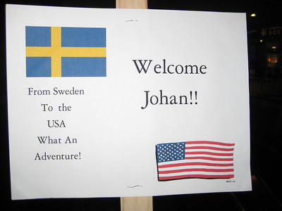 Welcoming Johan to the USA on Monday June 22, 2009