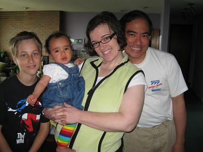 Johan, Sad Esther, Sara & Erik