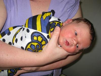 Aunt Linda loves holding baby Julien