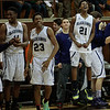 (Friday March 7th 2014 - North Farmington High School) Bloomfield HIlls' becnh jumps in celebration after winning the game against Harrison Friday night. Photo by: Brian B. Sevald