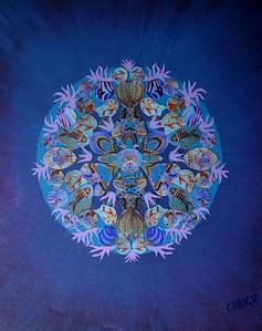 """Reef Kaleidoscope"" (mixed media) by Bob Craig"