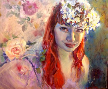 """Nymph of the Springtime"" (oil) by Hilarie Couture"