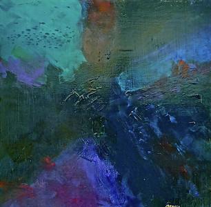 """""""Ascending"""" (acrylic/canvas) by Jim Ellis"""