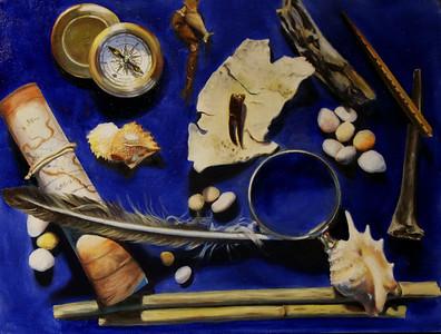 """Sea Treasures"" (oil on canvas) by Alla Fox"