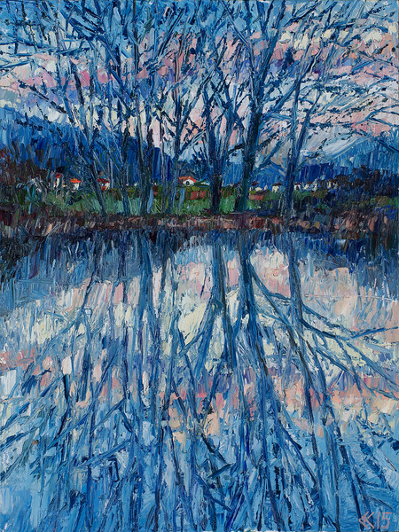 """""""Reflection"""" (oil) by Anna Kryukova"""