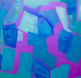 """Split"" (acrylic on canvas) by Rosemari Golledge"