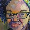 """Grieved"" (oil on canvas) by Kenyatta Roebuck"