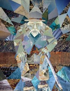 """Elder"" (collage) by Bob Craig"