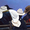 """Hats"" (pastel on Ampersand pastelbord) by Patsy Lindamood"