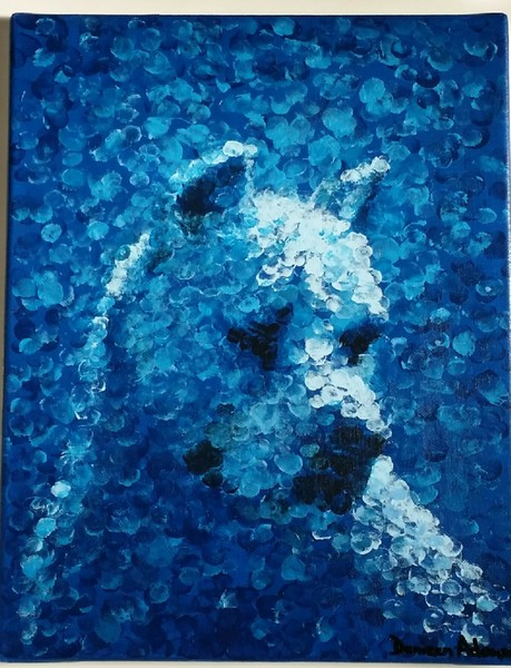 """Blue Dog"" (acryic) by Denizen Adamson"