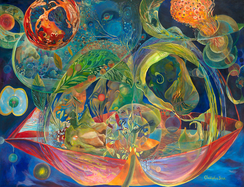 """""""Circle of Life"""" (oil on canvas) by Christopher Lane"""